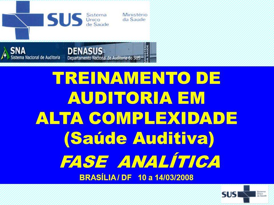 TREINAMENTO DE AUDITORIA EM