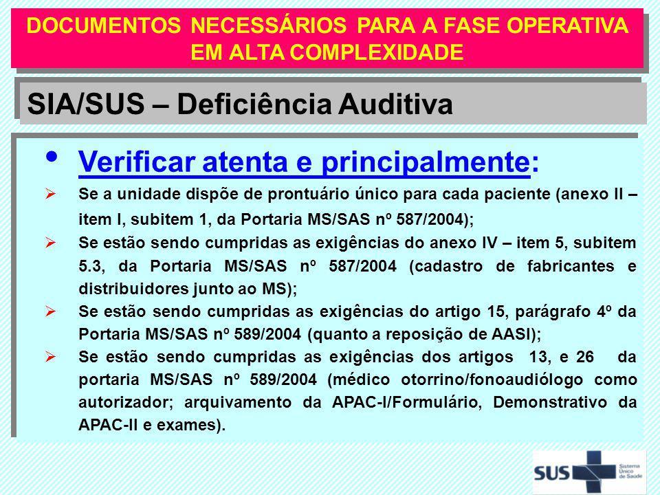 DOCUMENTOS NECESSÁRIOS PARA A FASE OPERATIVA EM ALTA COMPLEXIDADE