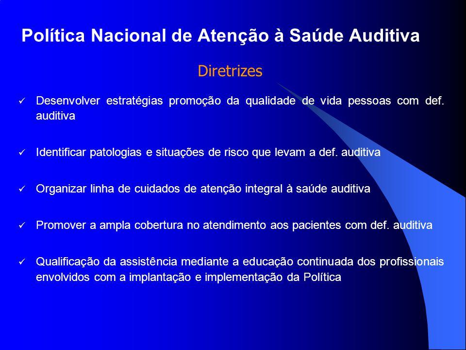 Política Nacional de Atenção à Saúde Auditiva