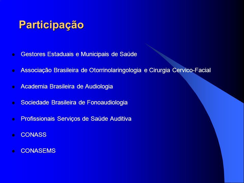 Participação Gestores Estaduais e Municipais de Saúde