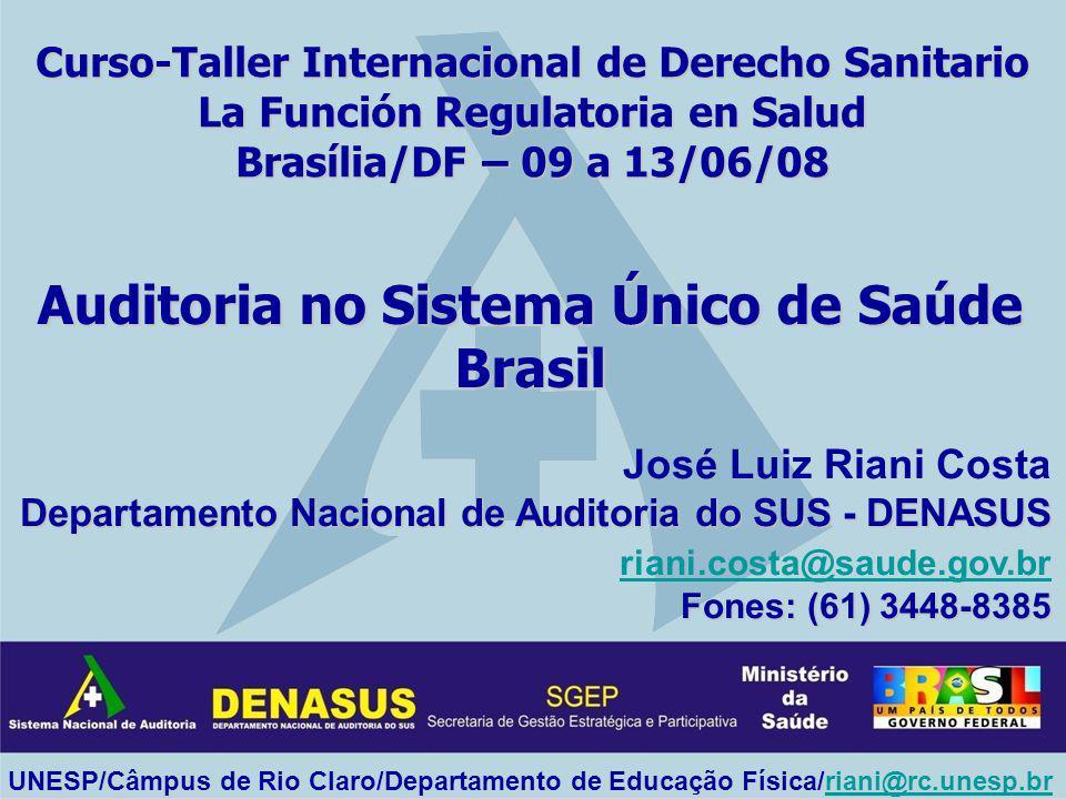 Auditoria no Sistema Único de Saúde Brasil