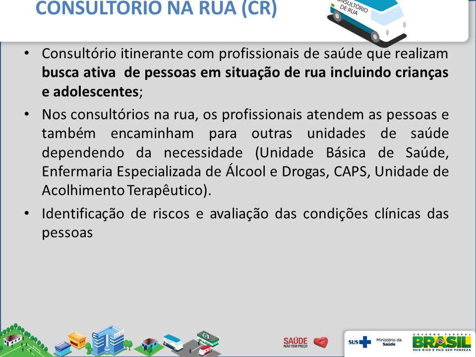 CONSULTÓRIO NA RUA (CR)