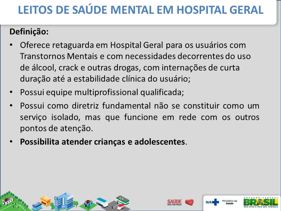 LEITOS DE SAÚDE MENTAL EM HOSPITAL GERAL