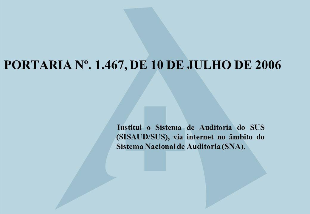 PORTARIA Nº. 1.467, DE 10 DE JULHO DE 2006
