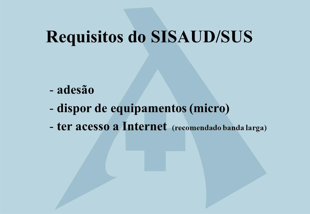 Requisitos do SISAUD/SUS