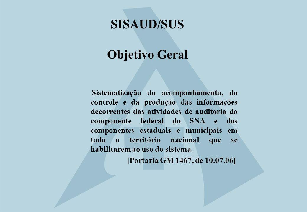 SISAUD/SUS Objetivo Geral