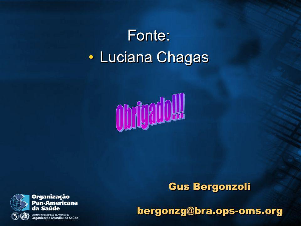 Fonte: Luciana Chagas Obrigado!!! Gus Bergonzoli