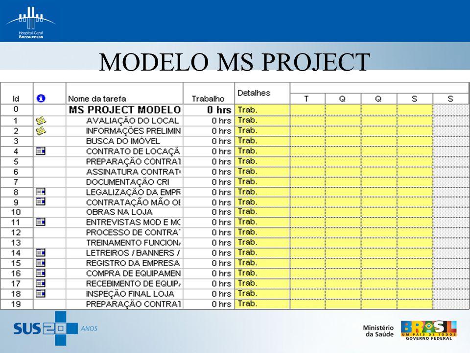 MODELO MS PROJECT