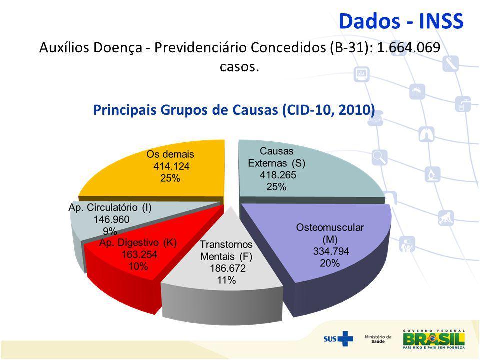 Principais Grupos de Causas (CID-10, 2010)