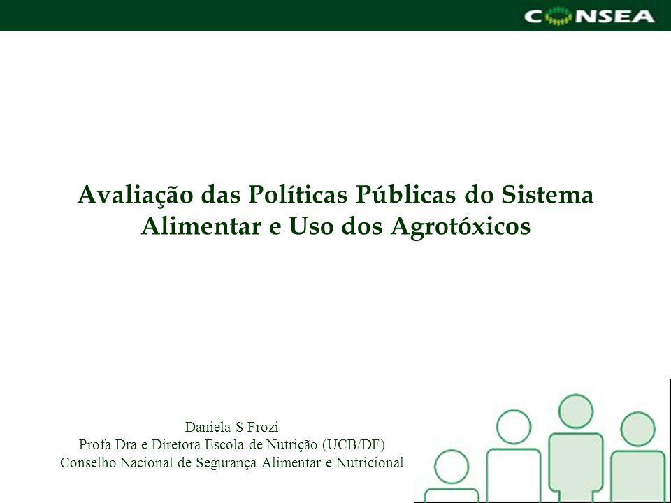 Avaliação das Políticas Públicas do Sistema Alimentar e Uso dos Agrotóxicos