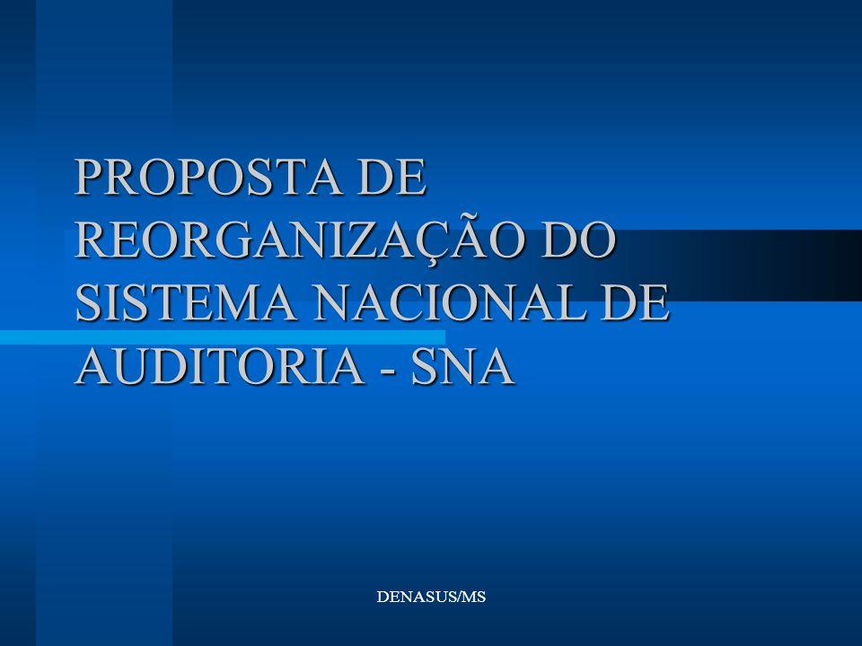 PROPOSTA DE REORGANIZAÇÃO DO SISTEMA NACIONAL DE AUDITORIA - SNA