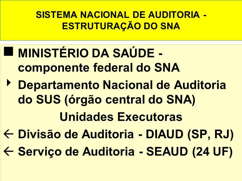 SISTEMA NACIONAL DE AUDITORIA - ESTRUTURAÇÃO DO SNA