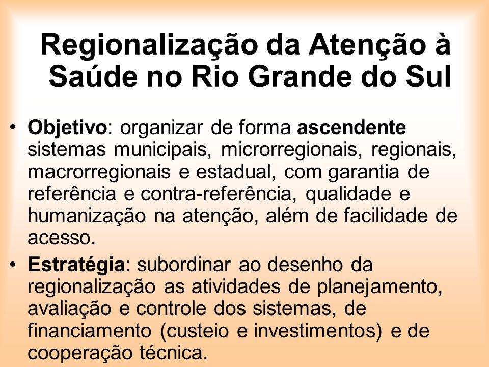 Regionalização da Atenção à Saúde no Rio Grande do Sul