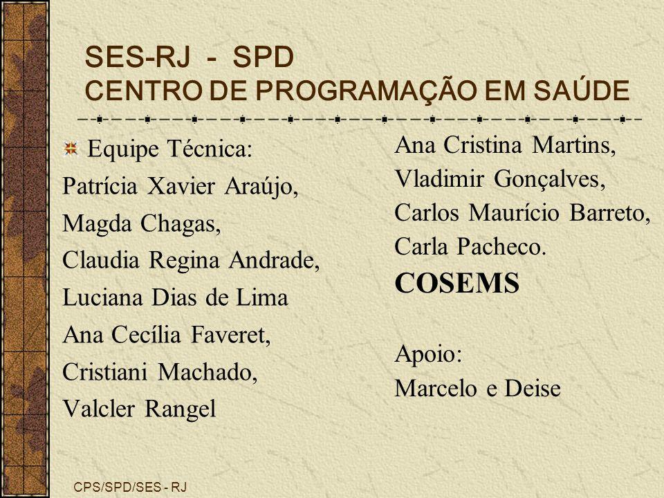SES-RJ - SPD CENTRO DE PROGRAMAÇÃO EM SAÚDE