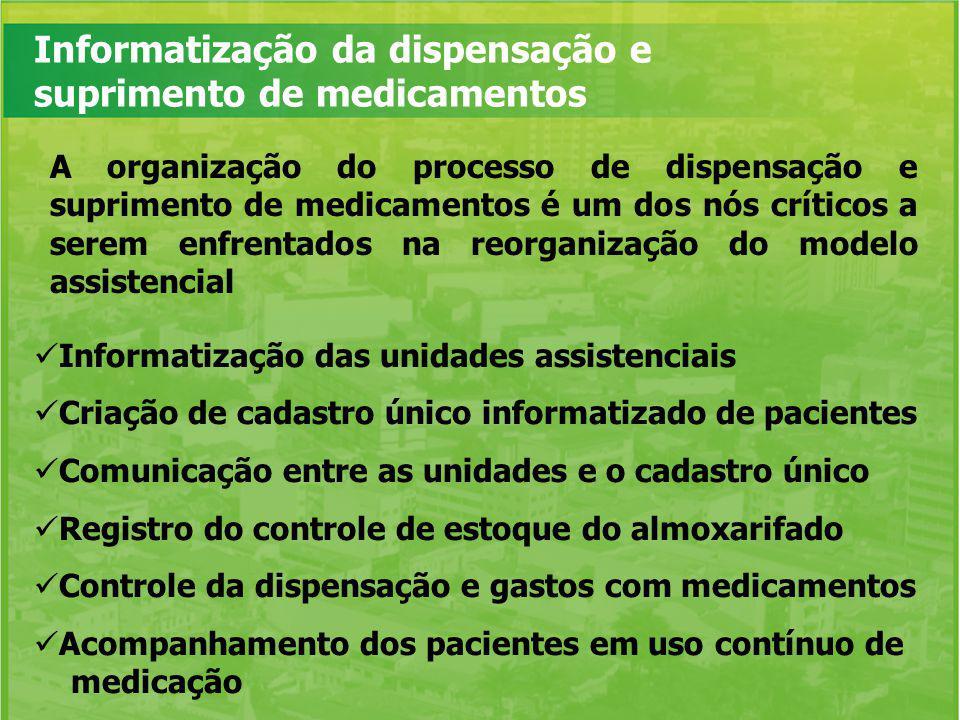 Informatização da dispensação e suprimento de medicamentos