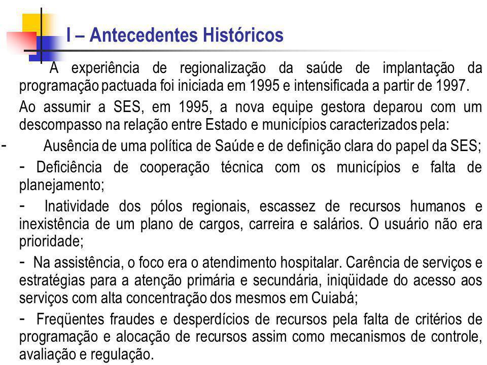 I – Antecedentes Históricos