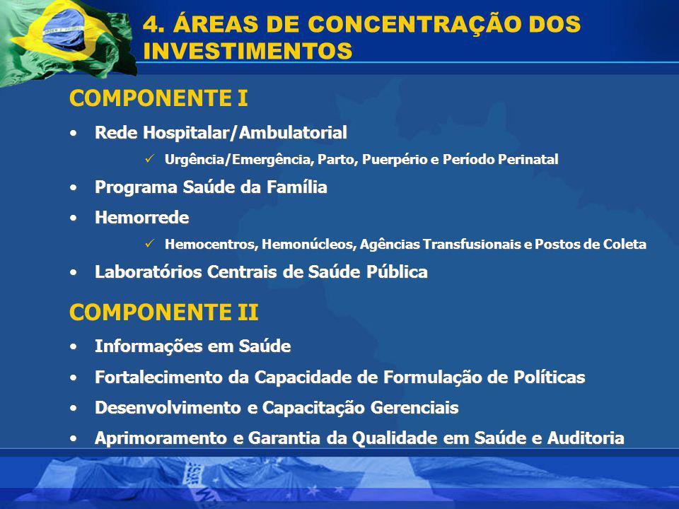4. ÁREAS DE CONCENTRAÇÃO DOS INVESTIMENTOS