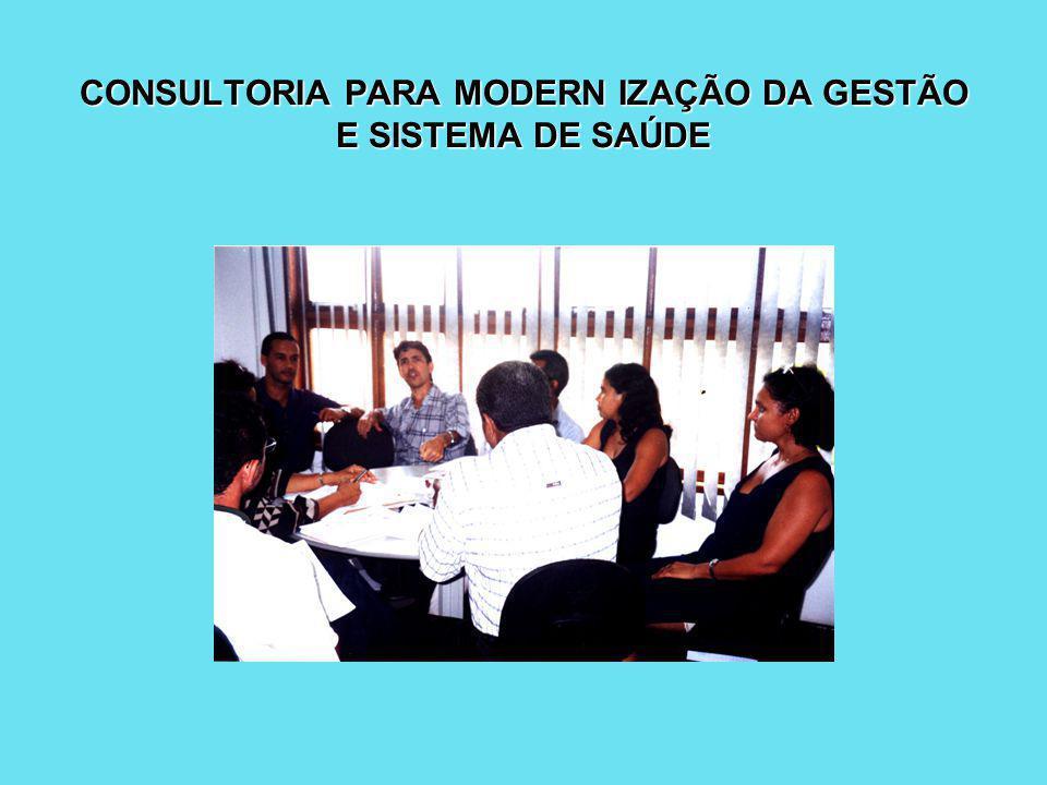 CONSULTORIA PARA MODERN IZAÇÃO DA GESTÃO E SISTEMA DE SAÚDE