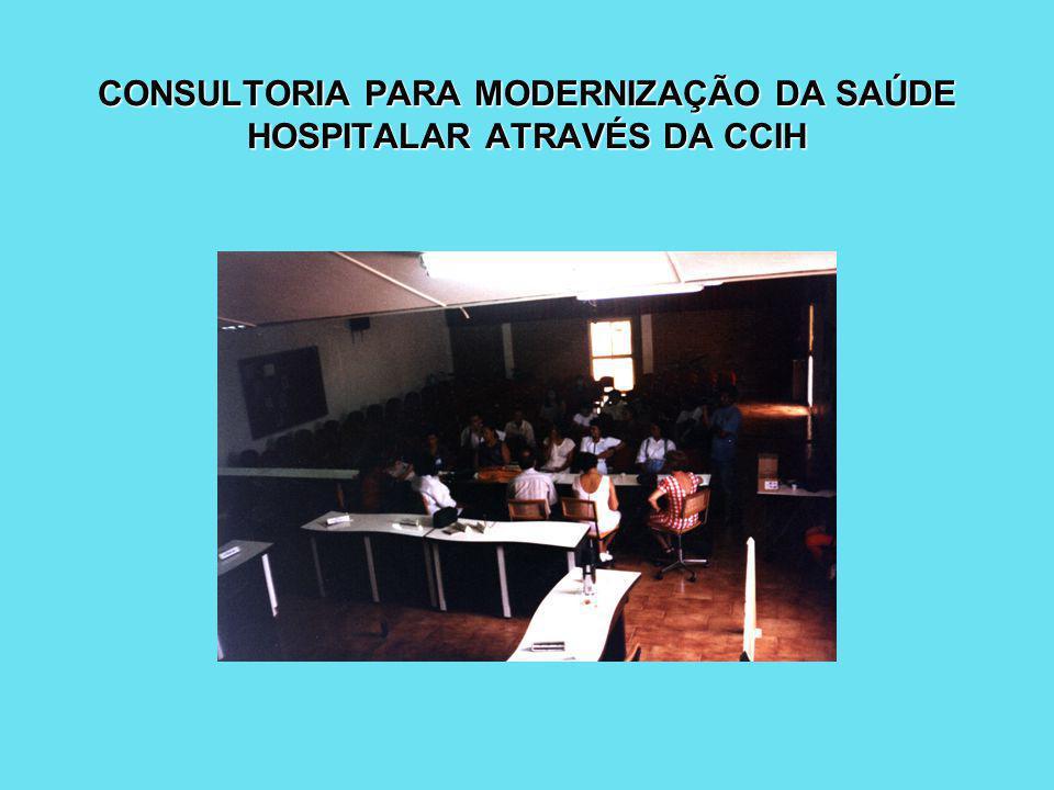CONSULTORIA PARA MODERNIZAÇÃO DA SAÚDE HOSPITALAR ATRAVÉS DA CCIH