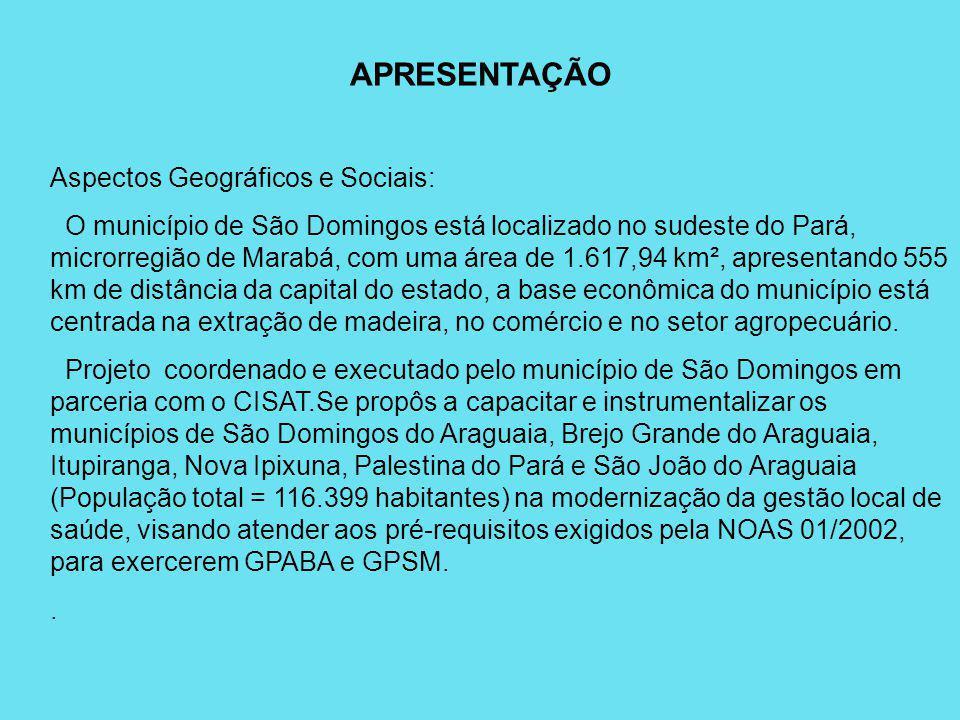 APRESENTAÇÃO Aspectos Geográficos e Sociais: