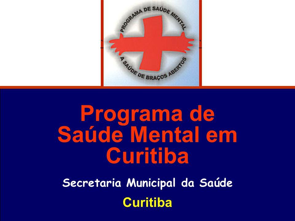 Programa de Saúde Mental em Curitiba Secretaria Municipal da Saúde