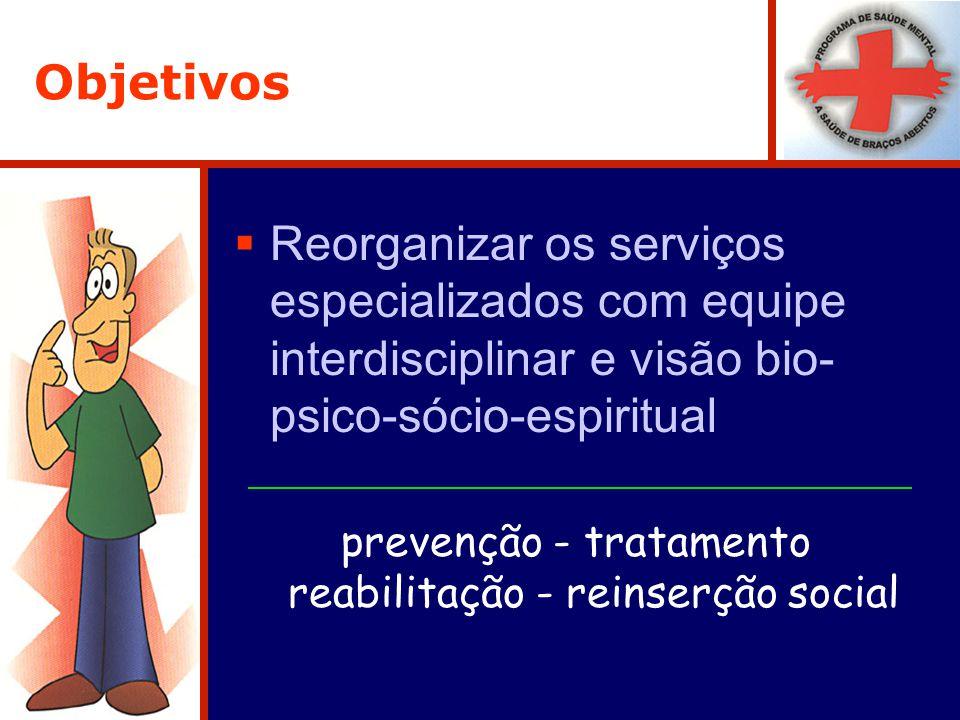 prevenção - tratamento reabilitação - reinserção social