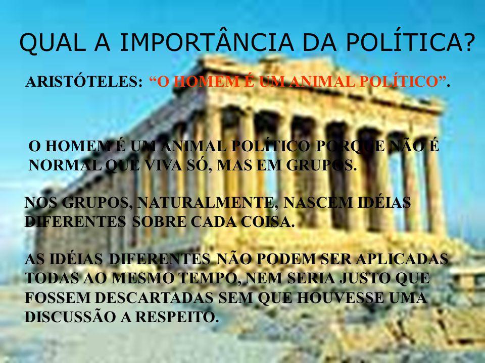 QUAL A IMPORTÂNCIA DA POLÍTICA