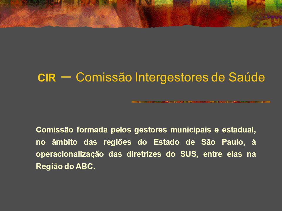 CIR – Comissão Intergestores de Saúde
