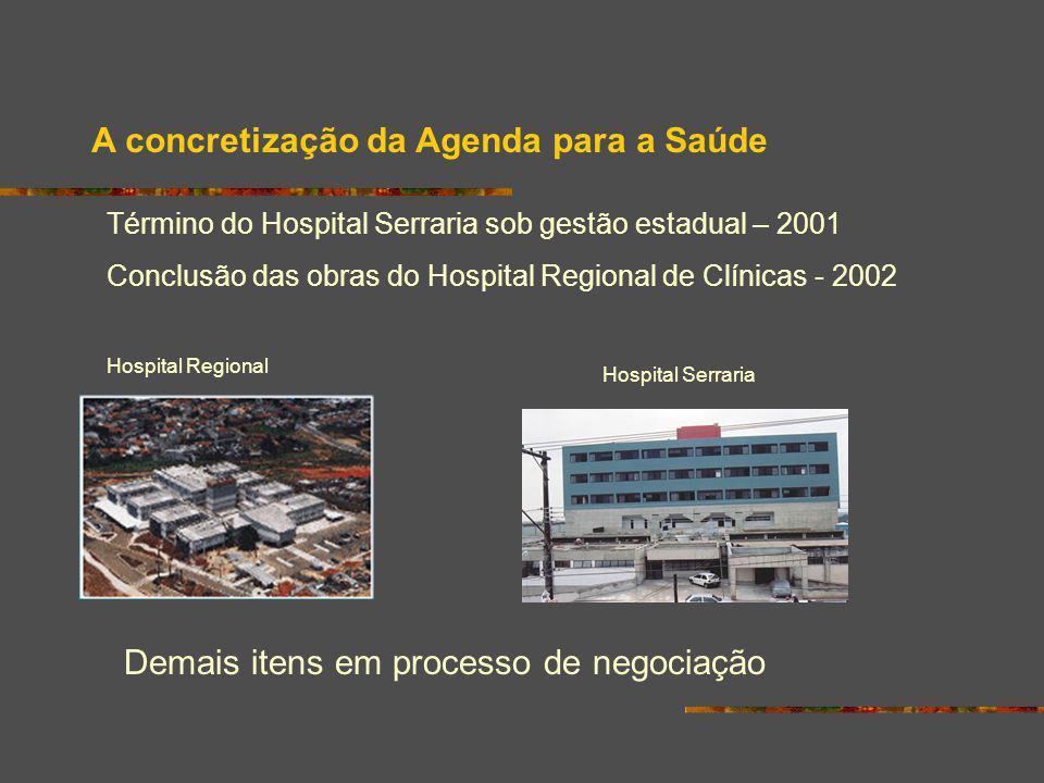 A concretização da Agenda para a Saúde