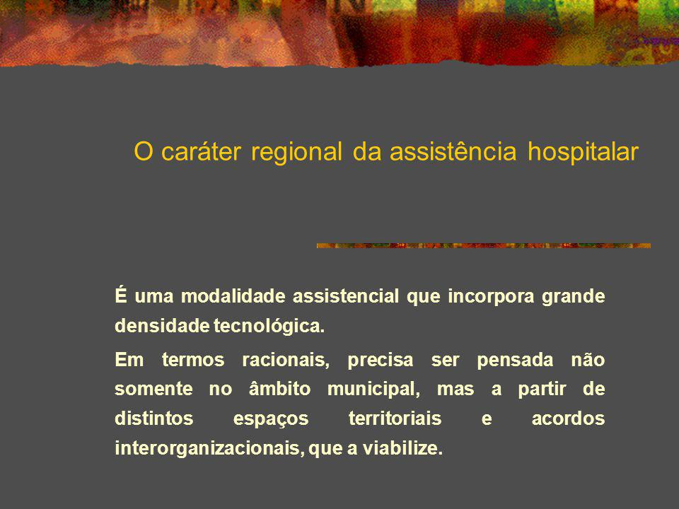 O caráter regional da assistência hospitalar