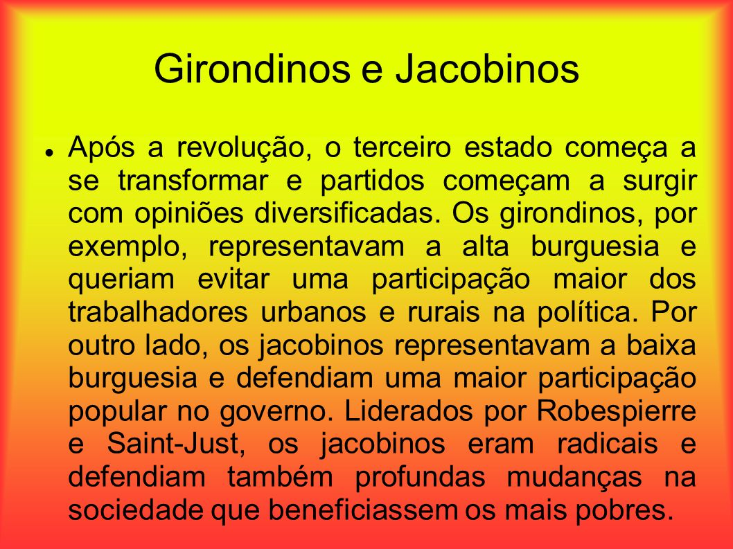 Girondinos e Jacobinos