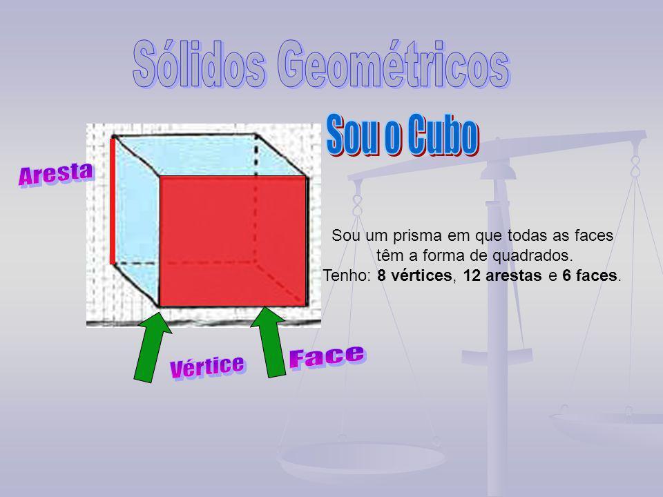 Sólidos Geométricos Sou o Cubo Aresta Face Vértice