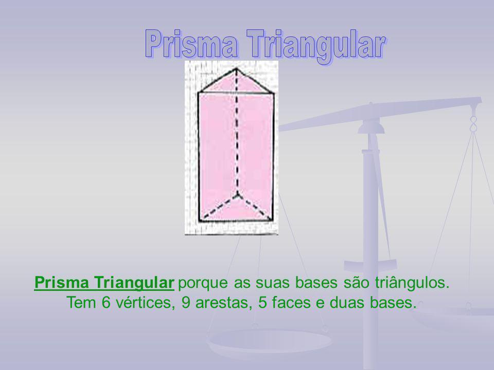 Prisma Triangular Prisma Triangular porque as suas bases são triângulos.