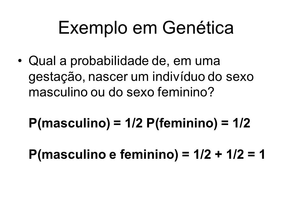 Exemplo em Genética