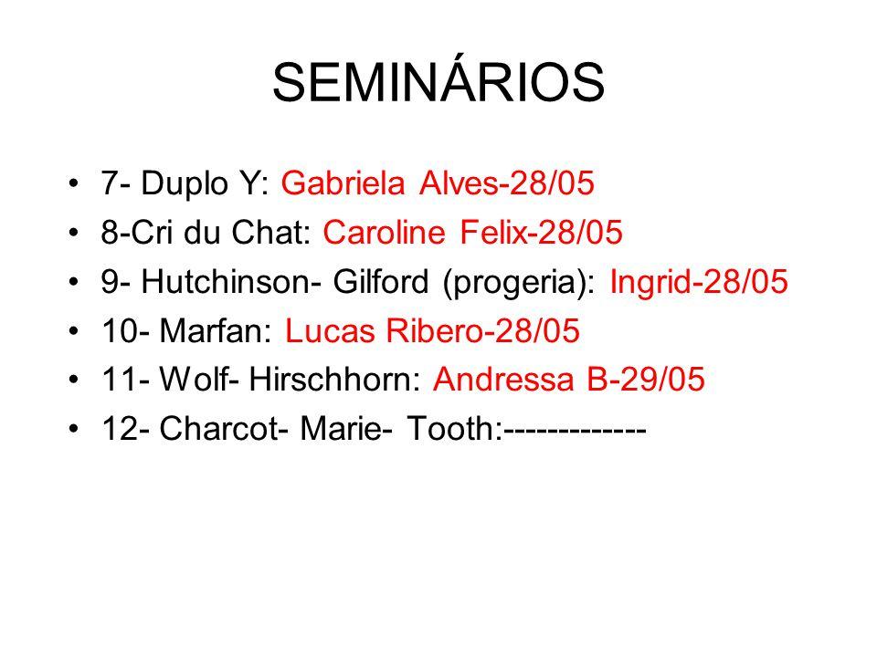 SEMINÁRIOS 7- Duplo Y: Gabriela Alves-28/05