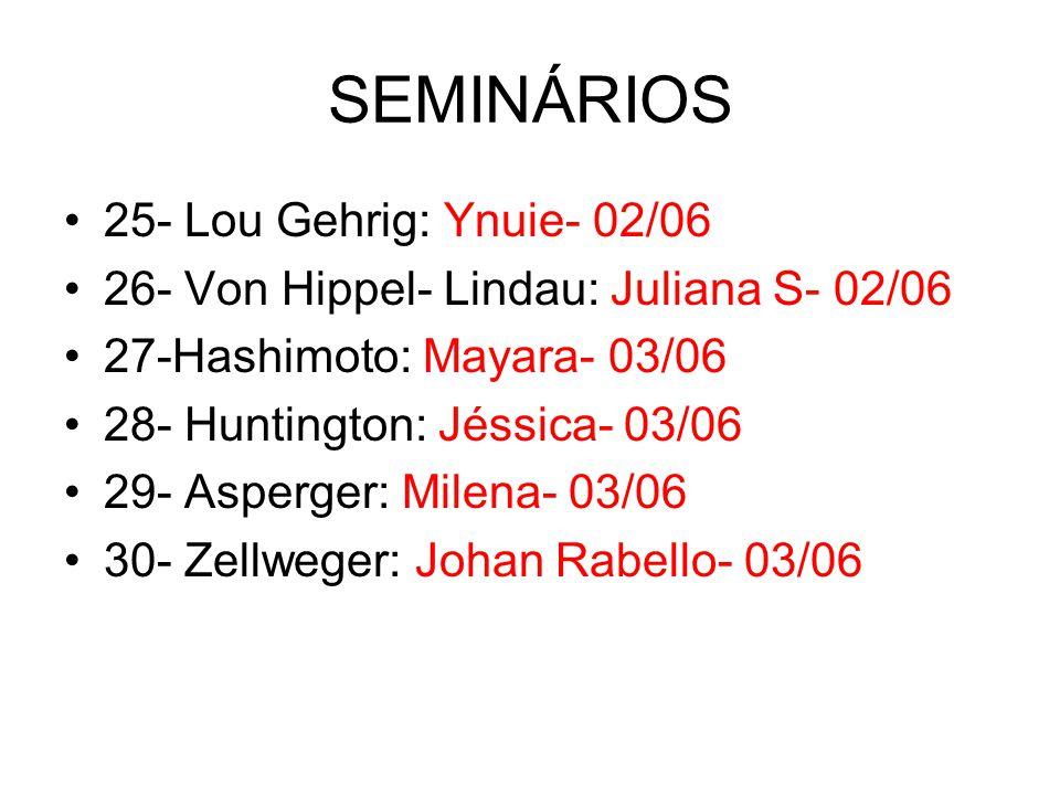 SEMINÁRIOS 25- Lou Gehrig: Ynuie- 02/06