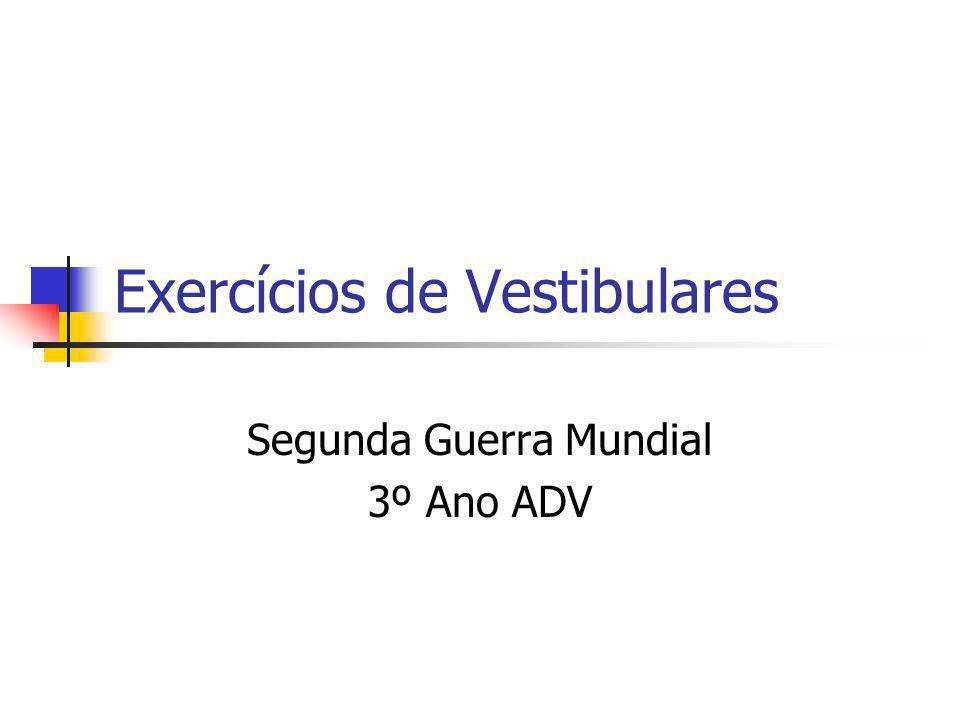 Exercícios de Vestibulares