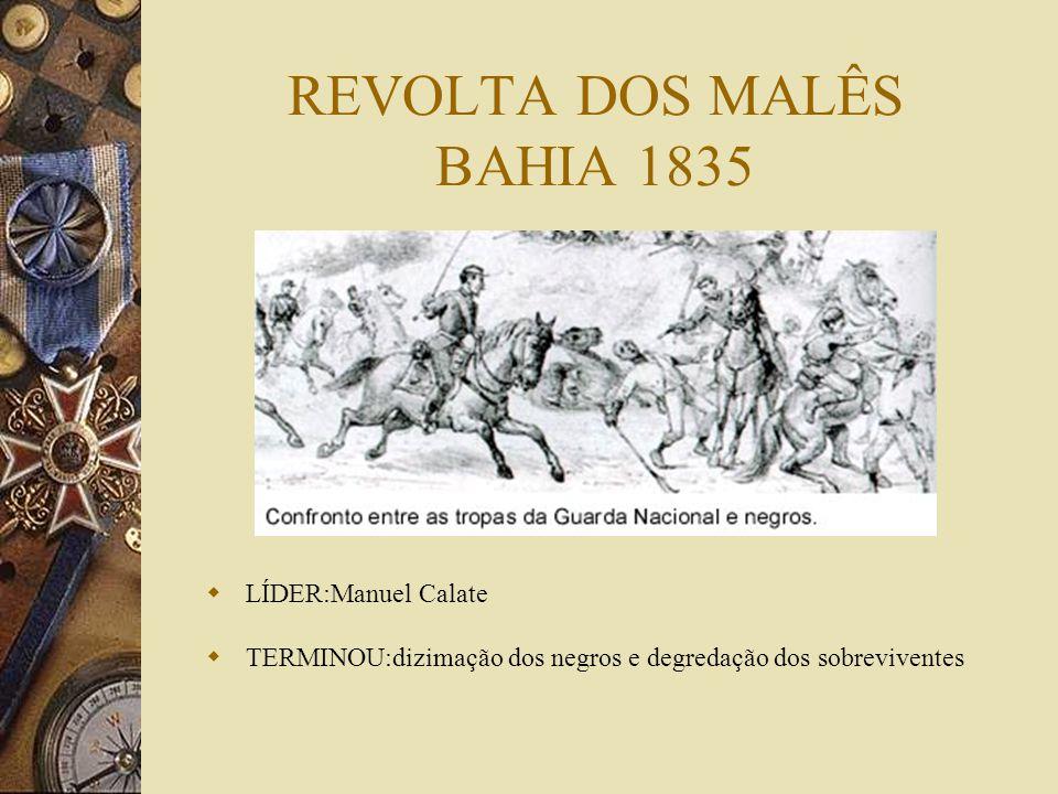 REVOLTA DOS MALÊS BAHIA 1835