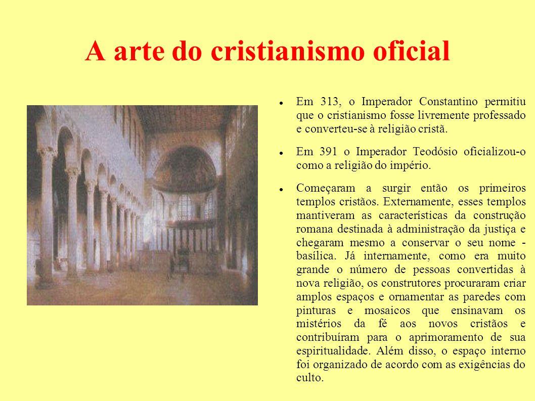 A arte do cristianismo oficial