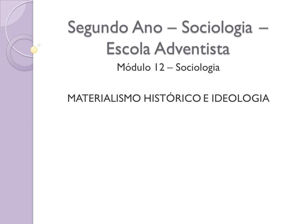 Segundo Ano – Sociologia – Escola Adventista