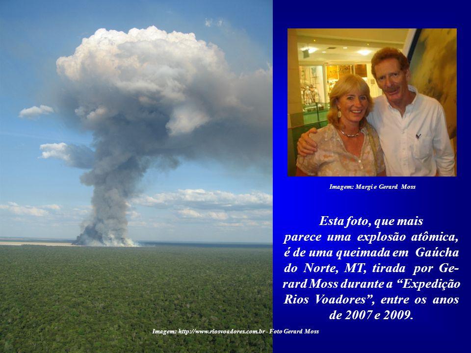 parece uma explosão atômica, é de uma queimada em Gaúcha