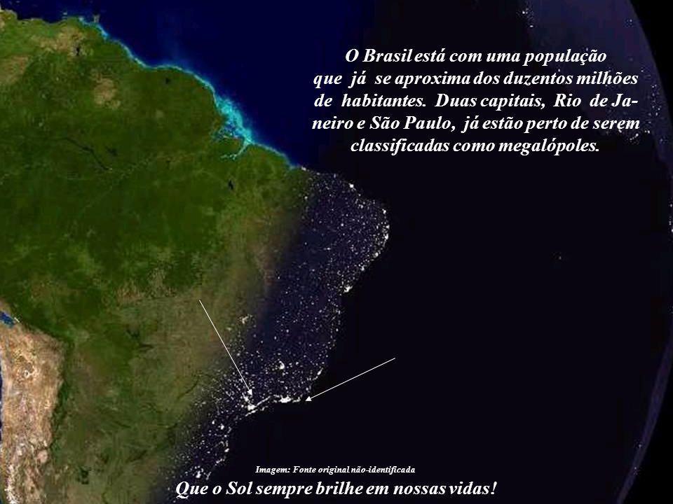 O Brasil está com uma população