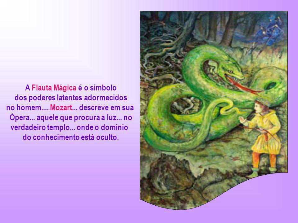 A Flauta Mágica é o símbolo dos poderes latentes adormecidos