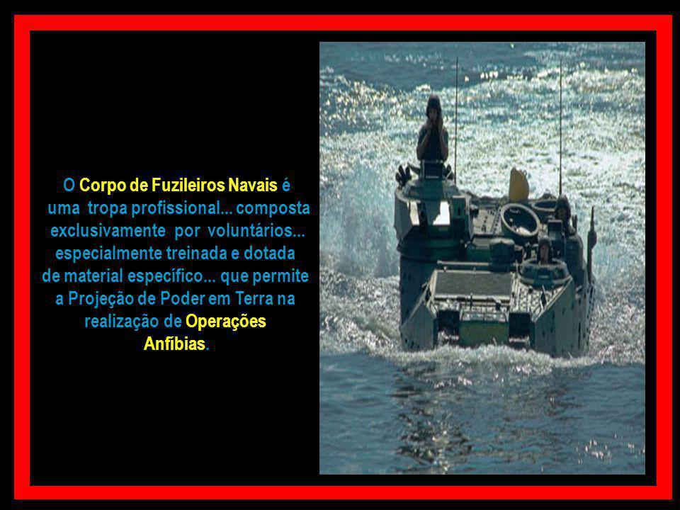 O Corpo de Fuzileiros Navais é uma tropa profissional... composta