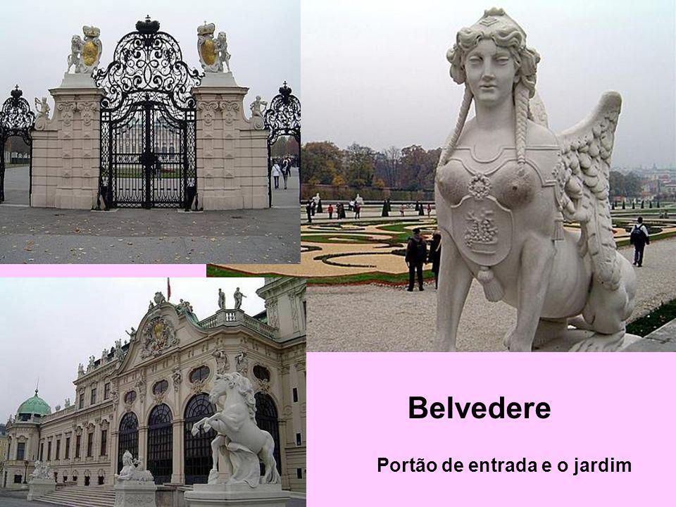 Belvedere Portão de entrada e o jardim