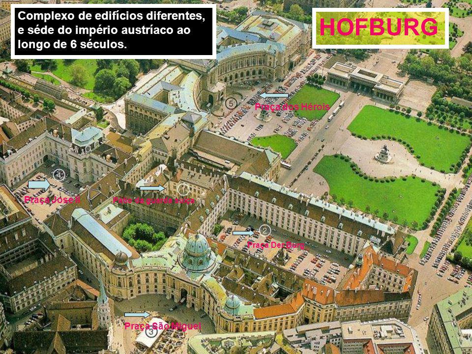 HOFBURG Complexo de edifícios diferentes,