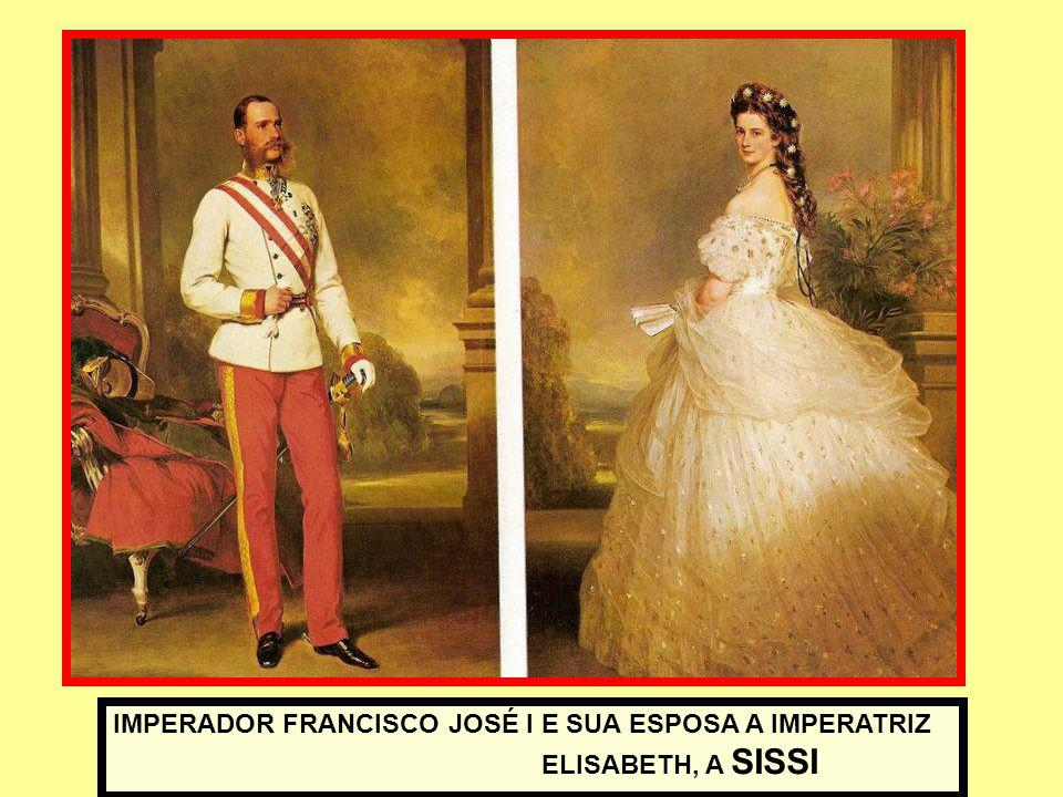 IMPERADOR FRANCISCO JOSÉ I E SUA ESPOSA A IMPERATRIZ