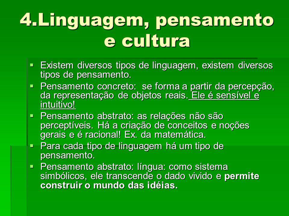 4.Linguagem, pensamento e cultura