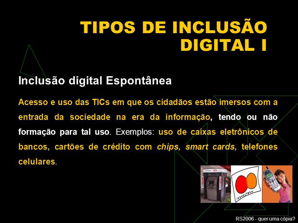 TIPOS DE INCLUSÃO DIGITAL I