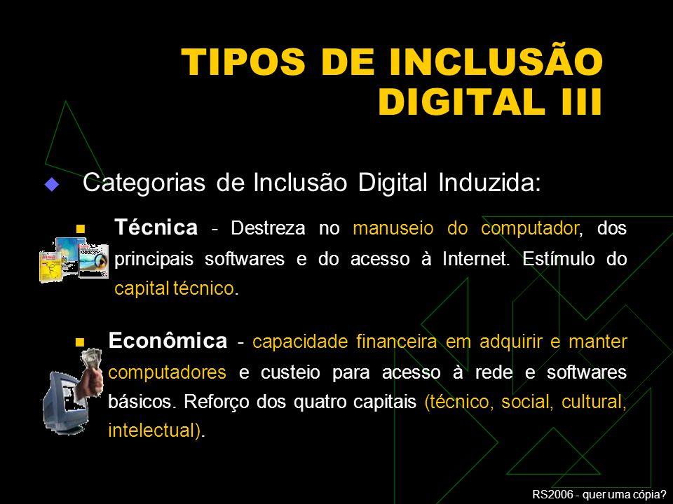 TIPOS DE INCLUSÃO DIGITAL III